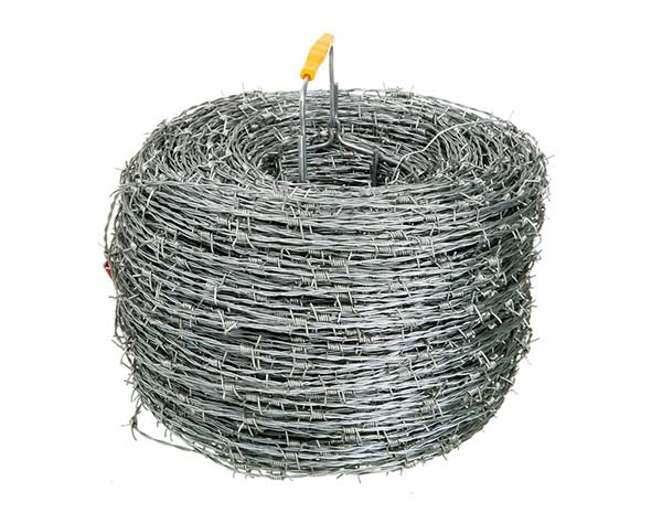 High Security Twisted BWG12 wire diameter 400 meter per roll hot dipped galvanized Barbed Wire for military